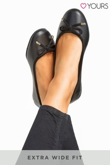 Yours Extra Wide Fit Ballerina Pumps