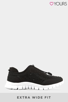 Yours Extra Wide Fit Gem Trainer