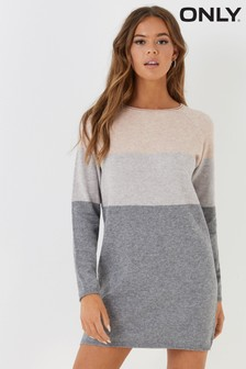 Only Colourblock Jumper Dress