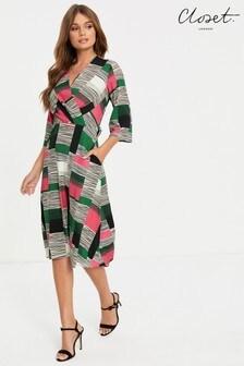 Closet Kimono Side Slit Midi Dress