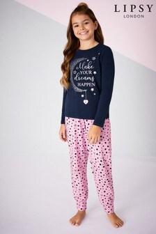 Pijama de niña de manga larga con diseño estampado de Lipsy