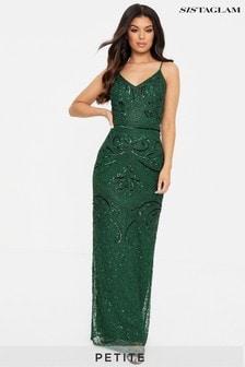 Sistaglam Petite Embellished Sleeveless Maxi Dress