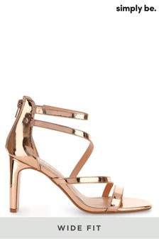 Simply Be Wide Foot Strappy Heel Sandals