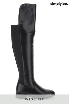 Simply Be Wide Fit Studded Boots