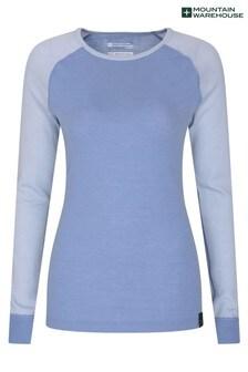 חולצה תרמית של Mountain Warehouse דגם Merino עם צווארון עגול לנשים