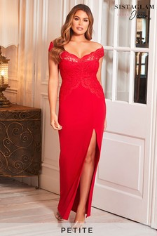 Sistaglam Loves Jessica Petite Bardot Maxi Dress