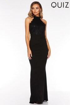 Quiz Lace Sequin Maxi Dress