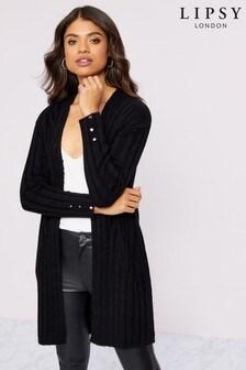 Vrúbkovaný svetrový kabát Lipsy