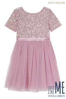 Maya Mini Short Sleeve Sequin Dress