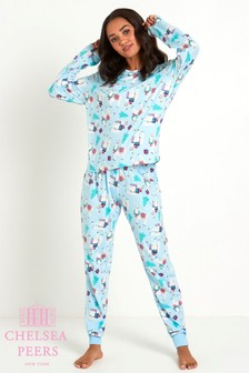 Chelsea Peers Christmas Llama Long PJ Set
