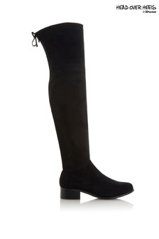 Heads Over Heels Flat Over The Knee Boots