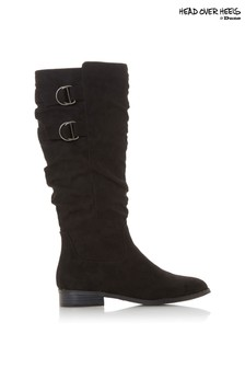 Head Over Heels Ruched Ring Detail Boots