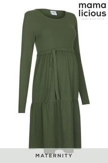 فستان متوسط الطول للحوامل من Mamalicious