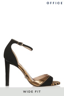 Office Wide Fit Tiger Heeled Sandals