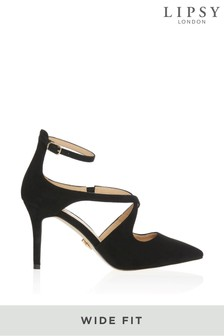 Lipsy Wide Fit Ankle Strap Cross Over Courts