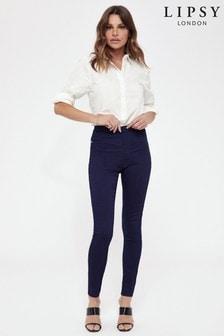 Skinny džegínsy klasickej dĺžky s vysokým sedom Lipsy Kourtney