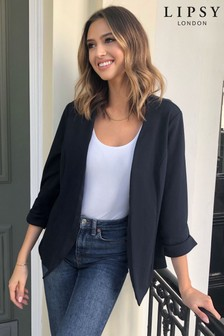 Lipsy Jersey Ruched Sleeve Blazer