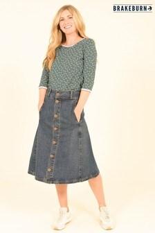 Brakeburn Denim Circle Skirt