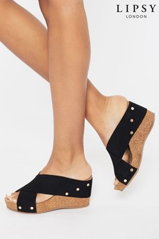 Lipsy Low Elastic Mule Wedge