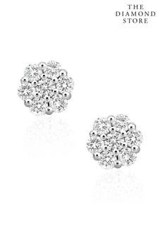 סט עגילי אשכול יהלומים0.50קראטבדרגת צבע וניקיוןH/SIבזהב לבן 9קראטדגםLab Diamond שלThe Diamond Store
