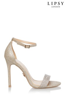 Lipsy Diamanté Strap Heeled Sandals