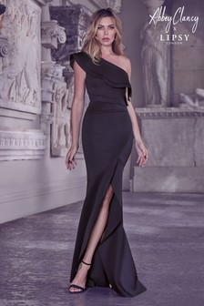 Abbey Clancy x Lipsy One Shoulder Ruffle Maxi Dress