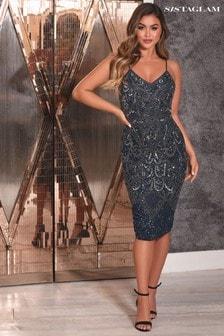 Sistaglam Embellished Dress