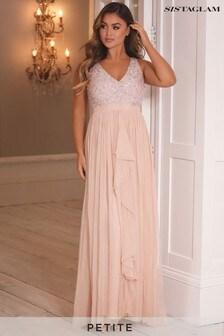 שמלת מקסי שלSistaglam עם מחשוף וי ופאייטים