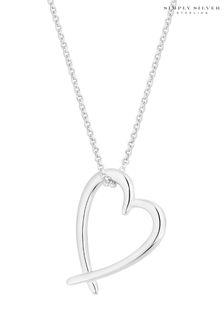 Серебряное ожерелье с подвеской-сердечком Simply Silver