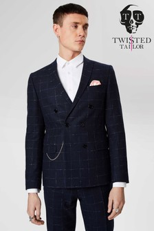 Twisted Tailor Check Suit Jacket