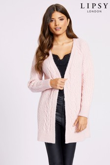 Lipsy Volume Sleeve Cable Cardigan