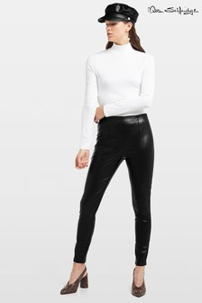 Miss Selfridge PU Seam Trousers