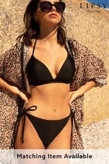 Lipsy Triangle Lace Insert Tie Bikini Top