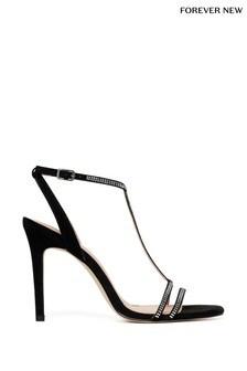 Forever New Diamanté T-Bar Sandals