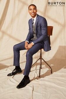 Burton Slim Texture Suit Trousers