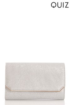 Quiz Textured Shimmer Bag