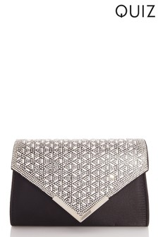 Quiz Jewel Burst Flap Envelope Bag