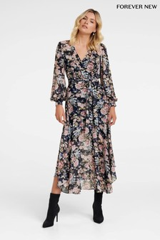 Forever New Floral Belted Maxi Dress