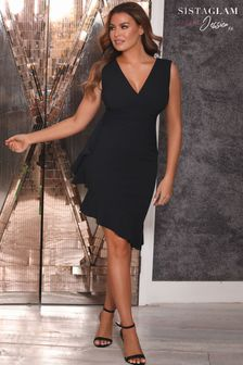 Sistaglam Loves Jessica  Bodycon Frill Mini Dress