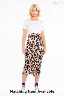 חצאית מעטפת תואמת בהדפס מנומר דגם Jaspre של Never Fully Dressed