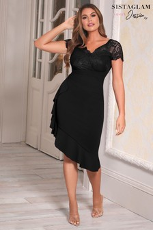 Sistaglam Loves Jessica 2-In-1 Lace Pencil Dress