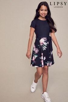 Lipsy Short Sleeve 2 in 1 Dress