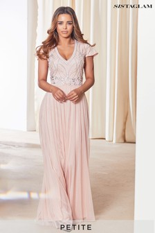 Sistaglam Petite Embellished Maxi Dress