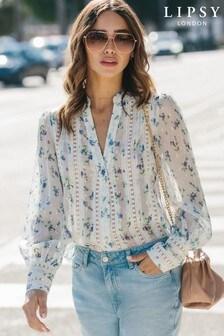 Lipsy Lace Insert Shirt (R20859) | $62
