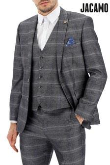Jacamo Plus Size Vinnie Check Suit Jacket
