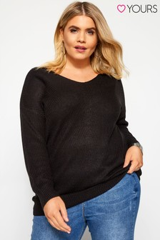 Yours Curve Lace Up Jumper