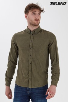 Blend Brushed Slim Fit Checked Flannel Shirt