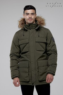 Broken Standard Fur Trimmed Parka Jacket