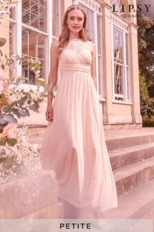 Sukienka maxi z siateczki z koronkowymi rękawami Lipsy Elsa