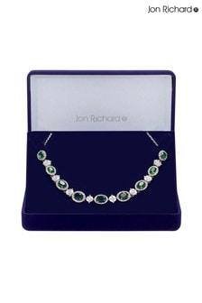 Jon Richard Cubic Zirconia Green Halo Necklace - Gift Boxed
